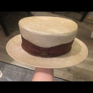 Goorin Bros Men's Straw Boater Hat